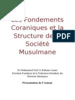 Les Fondations Coraniques et Structure de la Société Musulmane de Dr Ansari