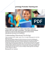 Educational Psychology Promotes Teaching and Learning.docx