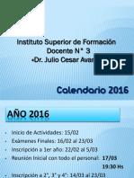 ISFD3_CRONOGRAMA_2016