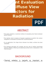 Efficient Evaluation of Diffuse View Factors For