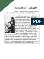 Discurso Del Presidente Raúl Alfonsín