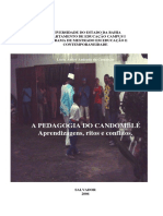 A Pedagogia Do Candomble