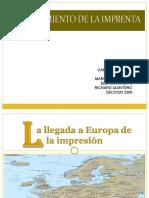 Clase Historia Impresion en Europa
