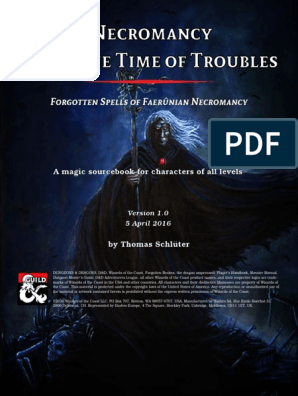 Necromancy 5e | Dungeons & Dragons | Tsr (Company) Games