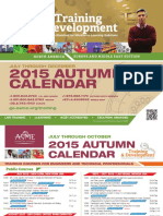 ASME Training and Development-Autumn-Calender