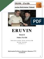 13b - Eruvin - 27a-52b