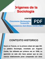 Orígenes de La Sociología