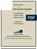 Segmentation of Indian Consumer