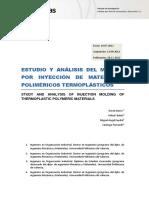 Estudio y Analisis Del Moldeo Por Inyeccion de Materiales Polimericos Termoplasticos