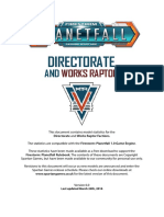 Planetfall Directorate Stats