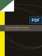 Internship in Architecture Program (IAP) Manual - CALA - 3rd Edition
