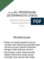 Course 4 Model Persediaan Deterministik Statis
