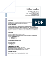 michael mendoza resume