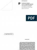Saussure Ferdinand de Cours de Linguistique Generale Edition Critique 1997