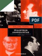 Marín, Dolors - Ministros Anarquistas La CNT en El Gobierno de La II República (1936-1939)