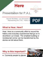 hear here pal presentation