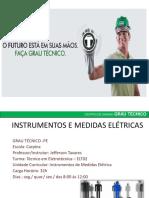 Apresentação Aula Medidas Eletricas Grau Tecnico Carpina