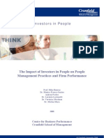 Investors in People - The Impact of Investors in People on People Management Practices and Firm Performance