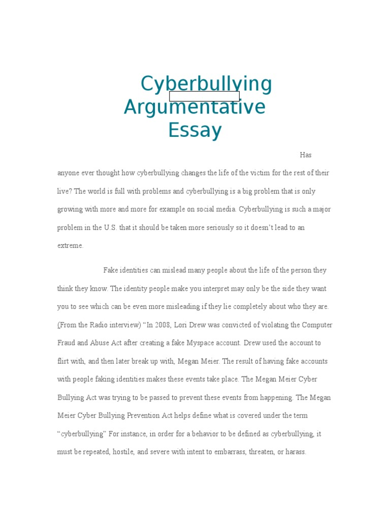cyber bullying essays | Infoupdate.org