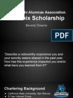 phoenix scholarship presentation