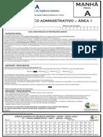 Anvisa Tecnico Administrativo Area 1 Prova