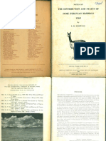 Notes on the distribution and status of some Peruvian mammals, 1968