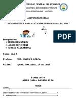 Código de Ética Para Contadores Profesionales Ifac 1