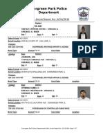 Evergreen Park Arrests April 16 to April 23, 2015