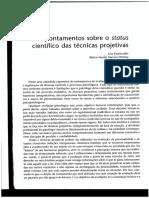 Apontamentos Sobre o Status Cientifico Das Tecnicas Projetivas