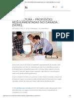 Profissões Regulamentadas No Canadá.pdf