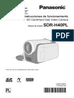 Videocamara Panasonic Sdr-h40