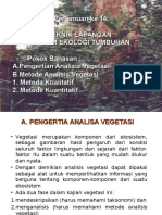 13. Teknik Lapangan Dalam Ekologi Tumbuhan