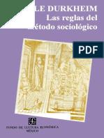 Durkheim Emile - Las Reglas Del Metodo S