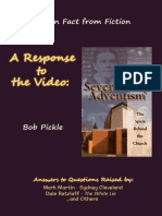 A Response to the Video Seventh Day Adventism, The Spirit Behind the Church