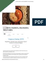 La Dieta Taoista, Filosofia Milenaria - Barcelona Alternativa