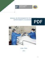 Manual de Procedimientos Tecnicos Dpto Enf 2010