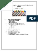 professional development agenda 10 29 15