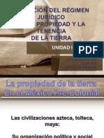 Evolución Del Régimen Jurídico de La Propiedad  y Tenencia de La Tierra