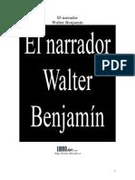 Walter Benjamin, El narrador