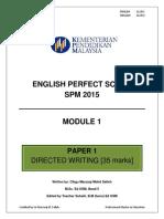 English perfect score spm 2015