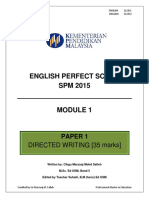 English perfect score spm 2015