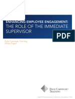 Enhancing Employee Engagement- The Role of the Immediate Supervisor(1)
