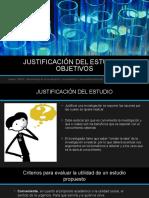 Justificación Del Estudio y Objetivos