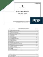 Govt. of Mizoram Works Programme 2016-17
