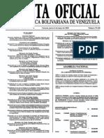 Sumario Gaceta Oficial 39.418