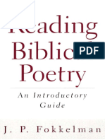 Westminster John Knox Press - J. P. Fokkelman - Reading Biblical Poetry, An Introductory Guide