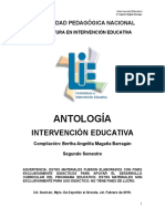 Antología Intervención Educativa