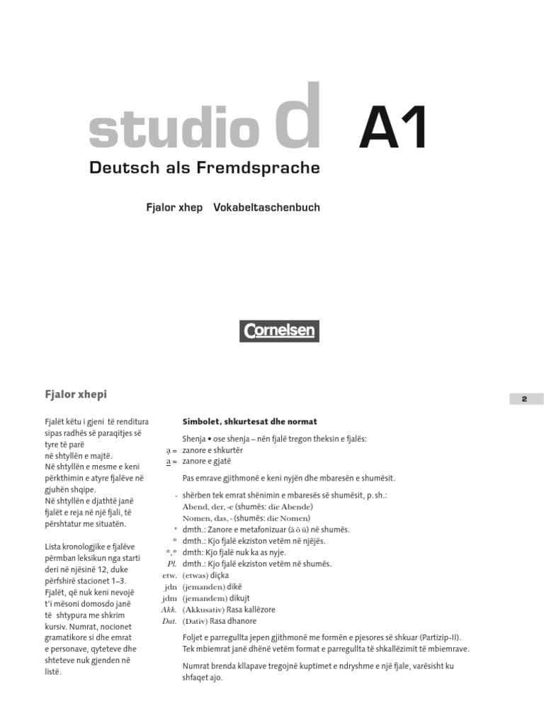 studio d a1 sprachtraining pdf