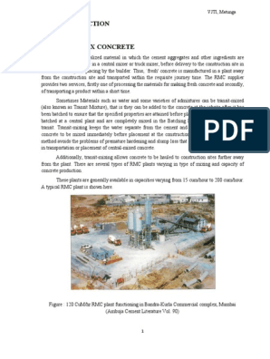 33533522-Ready-mix-concrete pdf | Concrete | Fly Ash