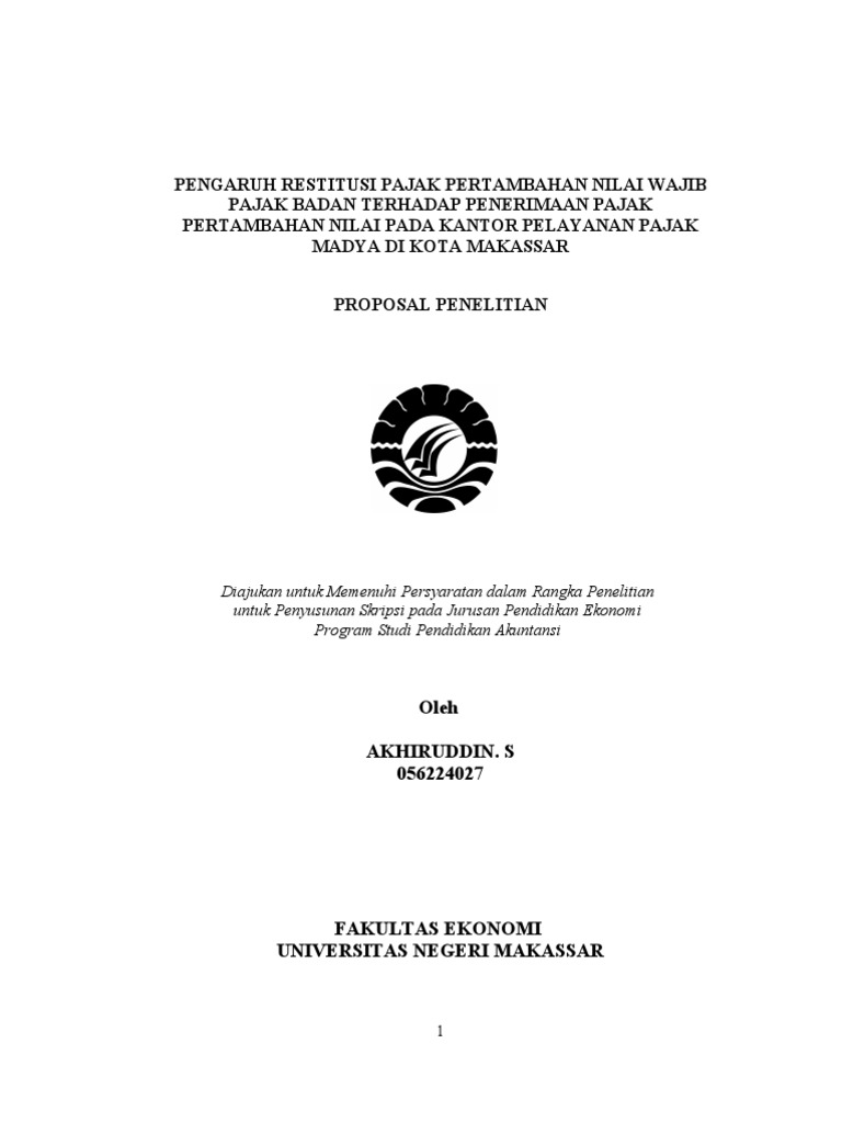 Contoh Proposal Skripsi Akuntansi Perpajakan Download